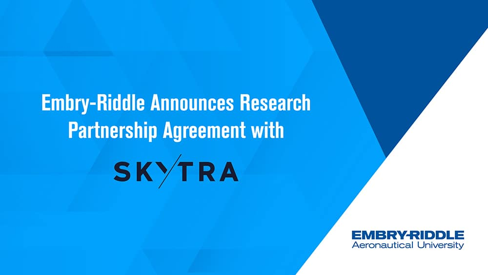A recent partnership forged between Embry-Riddle Worldwide's College of Business and the Airbus subsidiary Skytra will enable the school to develop a strong niche in the key area of financial risk management.