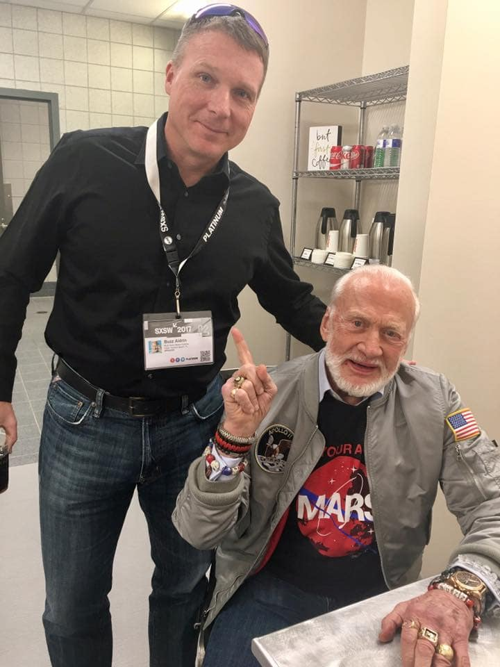 Terry Virts and Buzz Aldrin