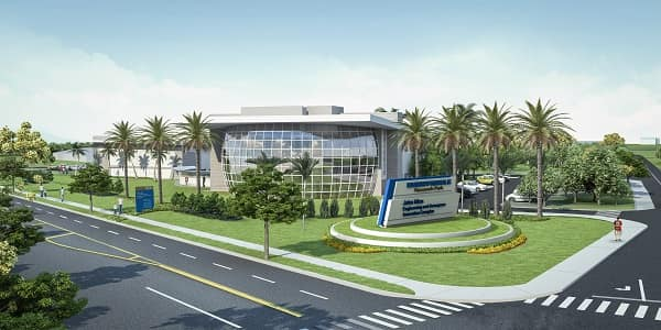 Rendering of Embry-Riddle's currently under-construction Advanced Aerodynamics Laboratory and Wind Tunnel complex