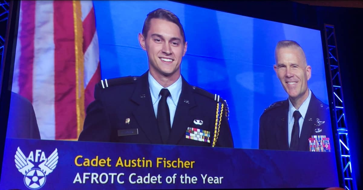 AFROTC 2018 Cadet of the Year Austin Fischer