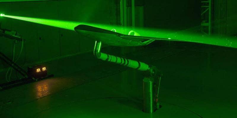 Blended Wing laser test at NASA