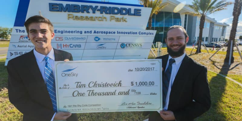 Mobile Application Wins Top 'OneSky' Prize for Embry-Riddle's Tim Christovich
