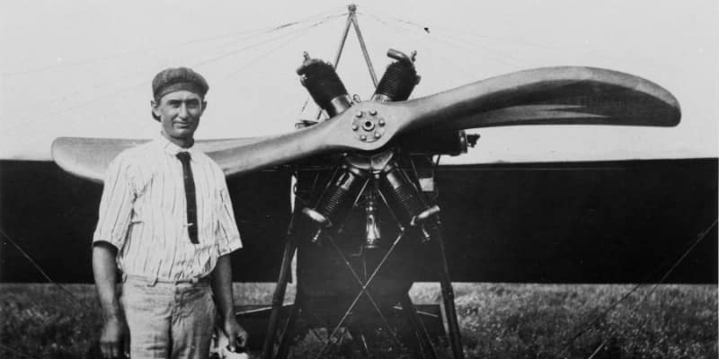 Clyde Cessna with an aircraft
