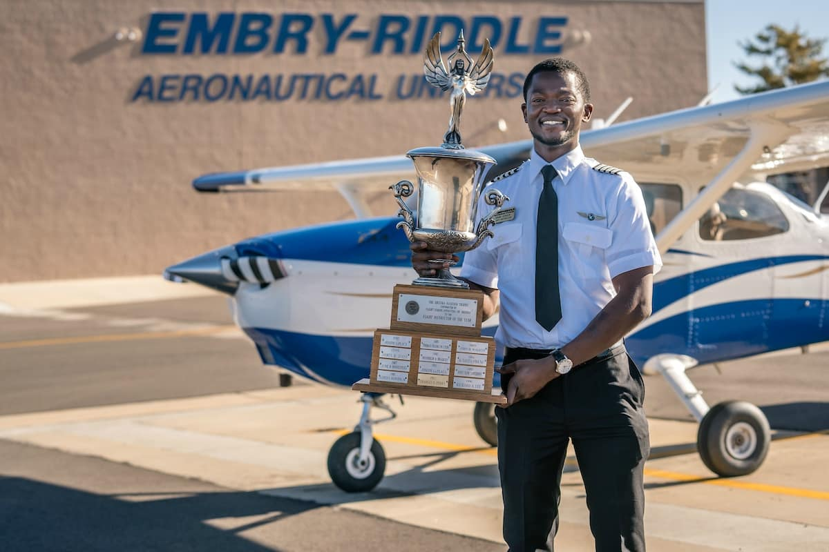 Dami Coker is Arizona's Flight Instructor of the Year