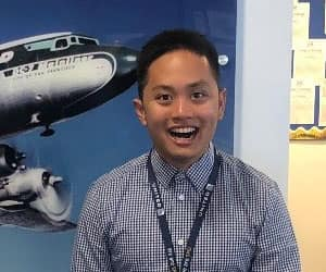 Joshua Castaneda, United Airlines intern