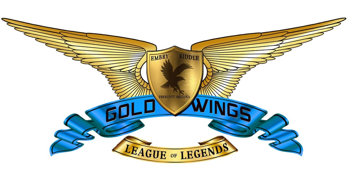 Prescott's E-Sports Gold Wings Logo