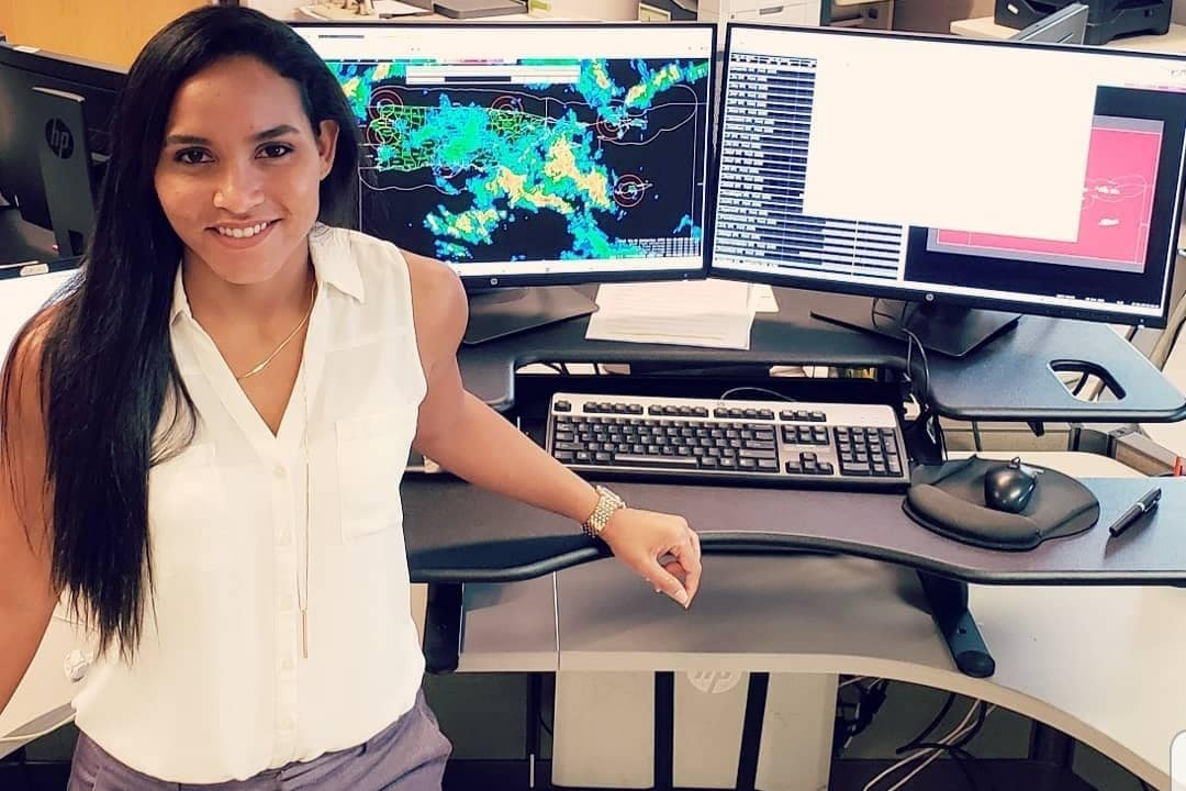 ERAU Alum Amaryllis Cotto ('09) using state of the art equipment to hunt and track hurricane activity