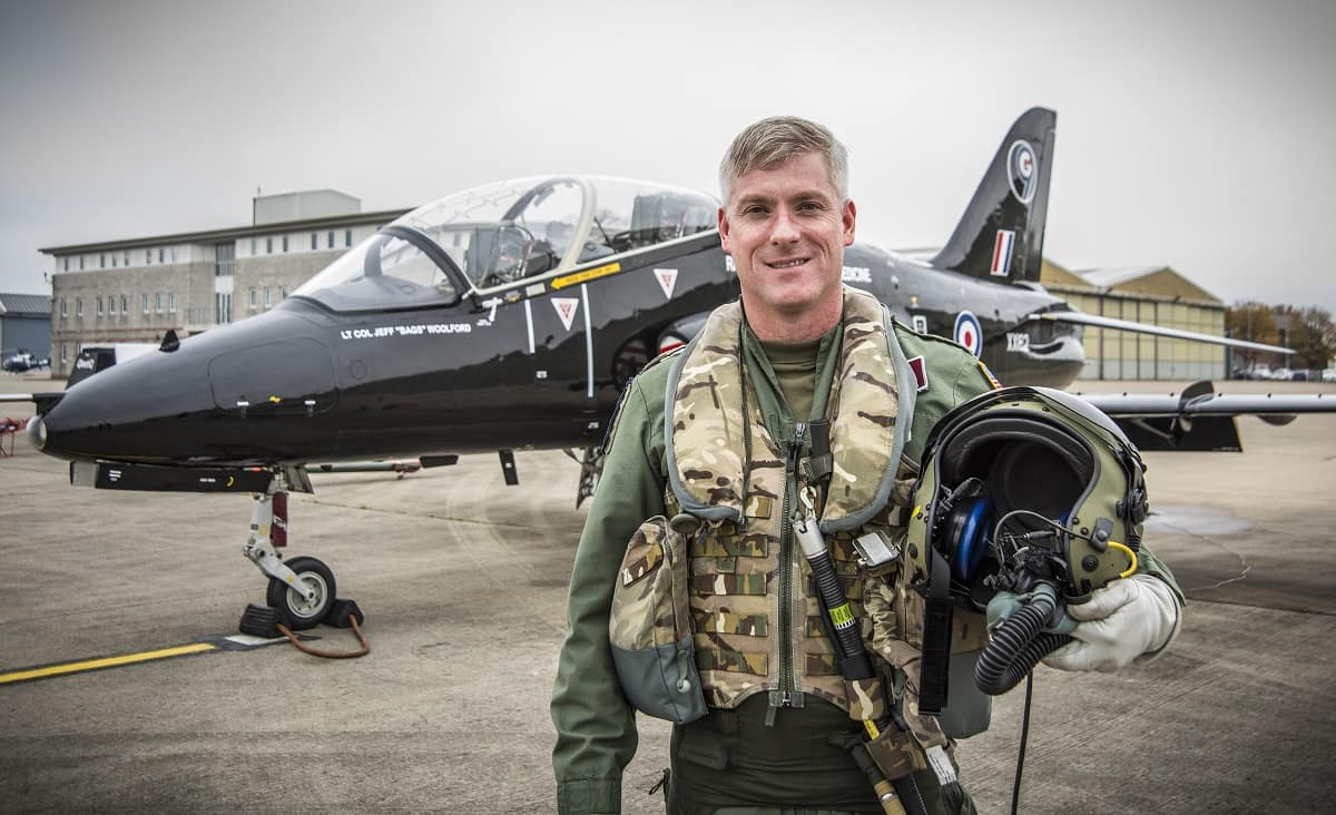 Lt Col (Dr.) Jeffrey Woolford Post-Flight