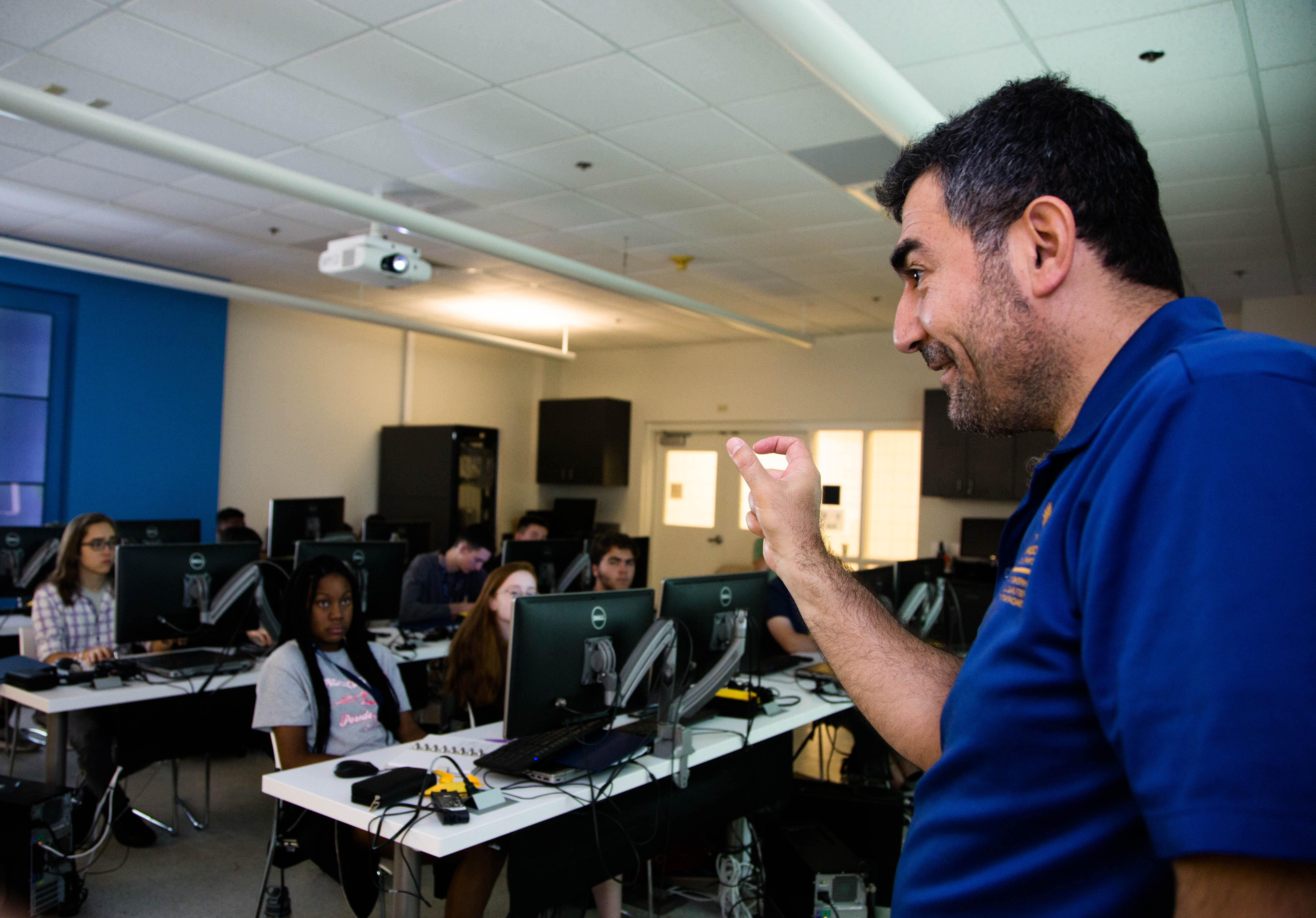 Computer Science Professor Remzi Seker developed a cybersecurity camp funded by the National Security Administration (NSA).