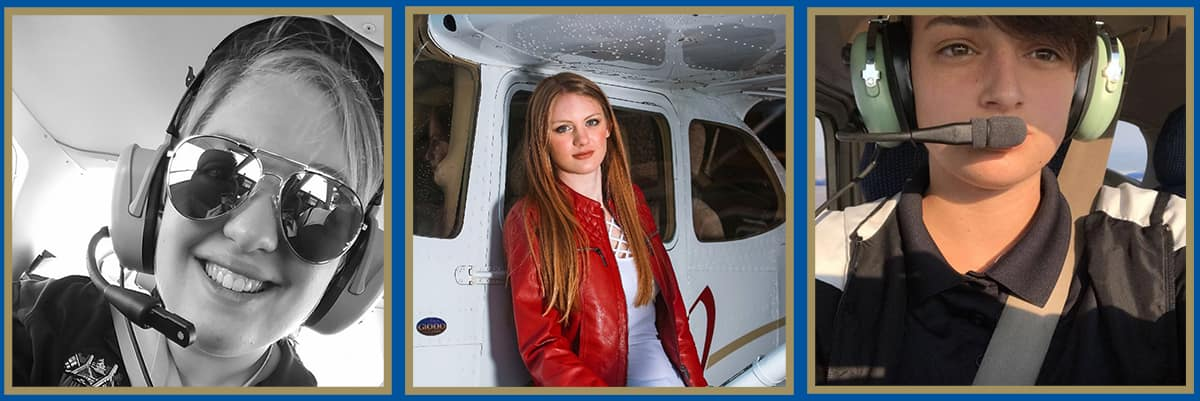 Embry-Riddle students Jennifer Maier, Alexis Cryts and Mikayla Quesenberry have been awarded the first Women in Aviation scholarships from Raytheonhttps://www.raytheon.com/ Company's Intelligence, Information and Services business.
