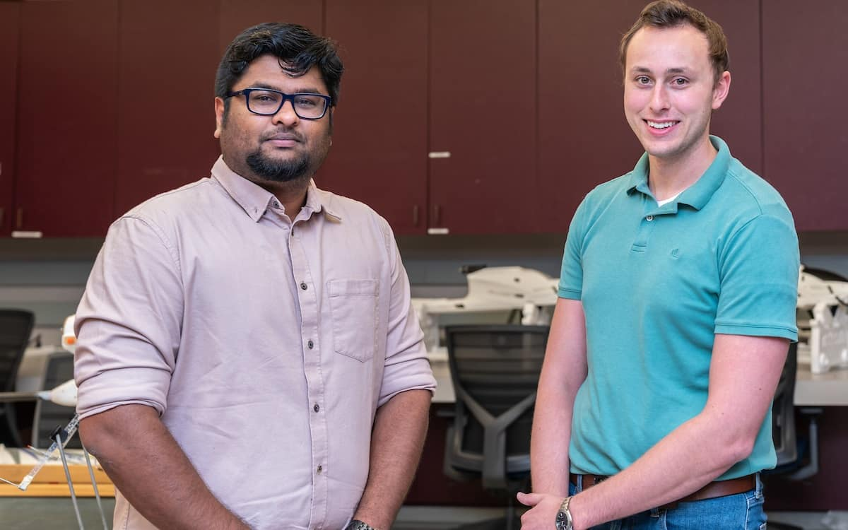 Ph.D. students Vijay Duraisamy and John Zelina