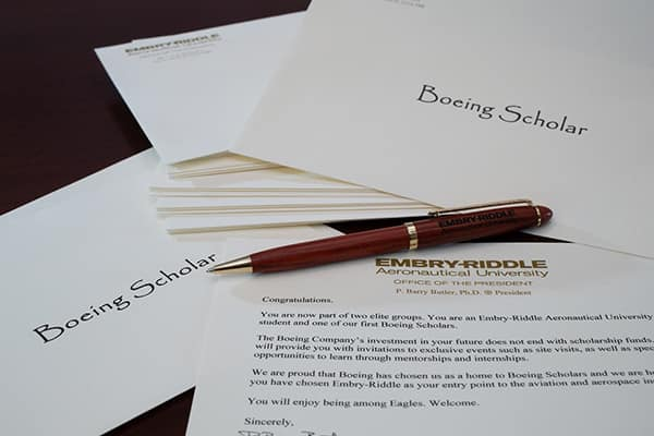 Boeing scholarship letters.