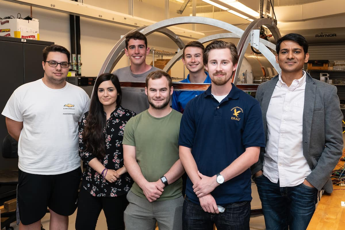 Dr. Aroh Barjatya and students: Alex Decat, Noemí Miguélez Gómez, Kyle Hrenyo, Nathan Weinstock, Adam Campagnolo and Liam Gunter are leveraging scientific instruments for use on Earth, in air, and in space.