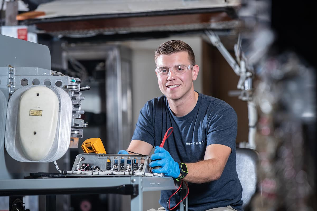 Aviation Maintenance Science alumnus Kyle Williams now works as a payload integration specialist at SpaceX. (Photo: Embry-Riddle/David Massey)