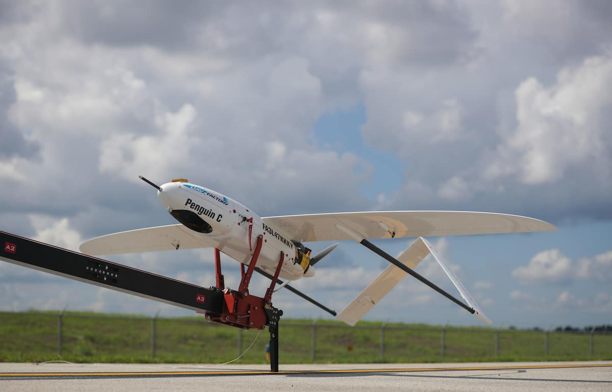 The Penguin C UAV readies for takeoff at Embry-Riddle's Daytona Beach Campus. (Photo: Embry-Riddle/David Massey)