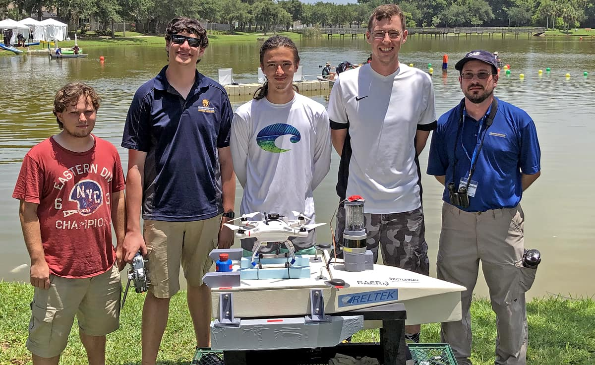 The Robotics Association at Embry-Riddle (RAER) competed at the ninth-annual RoboBoat competition, competing against 200 other participants from 13 teams.