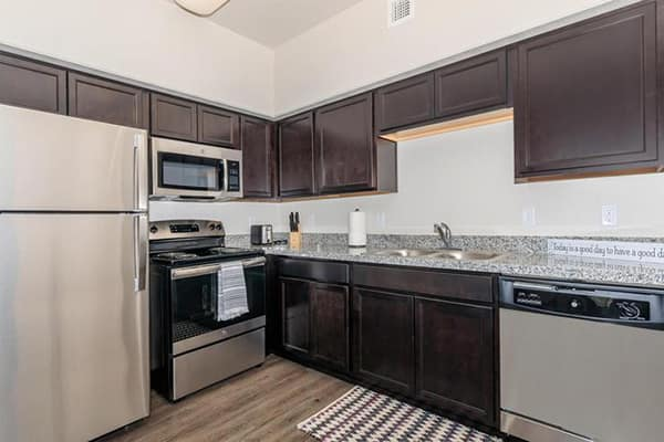 All Willow Creek apartments feature kitchens as well as washers and dryers.