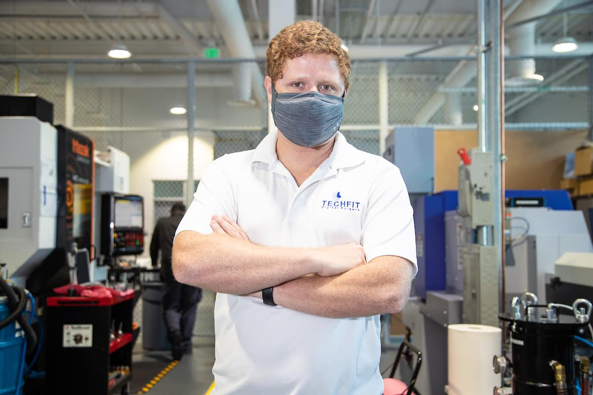 Techfit CEO and Co-Founder Mauricio Toro operates his business out of Embry-Riddle Aeronautical University's John Mica Engineering and Aerospace Innovation Complex (MicaPlex). (Photo: Embry-Riddle/David Massey)