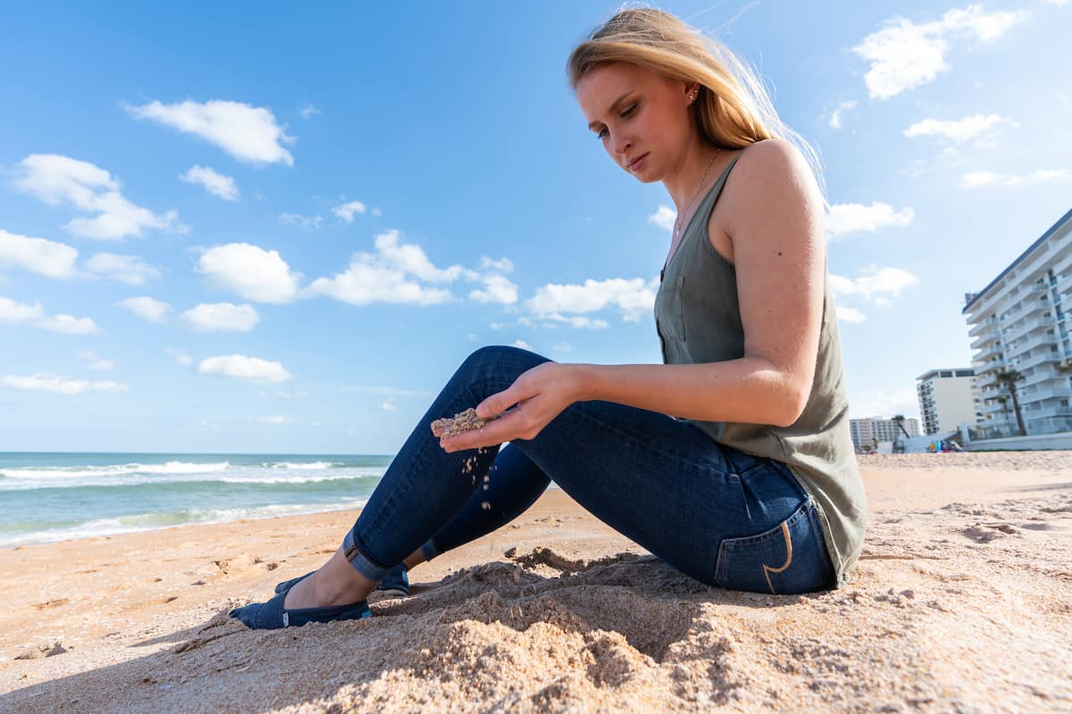 "Embry-Riddle student Grace Robertson is working to develop a ""beach Roomba"" that will clean microplastics from the sand at local beaches."