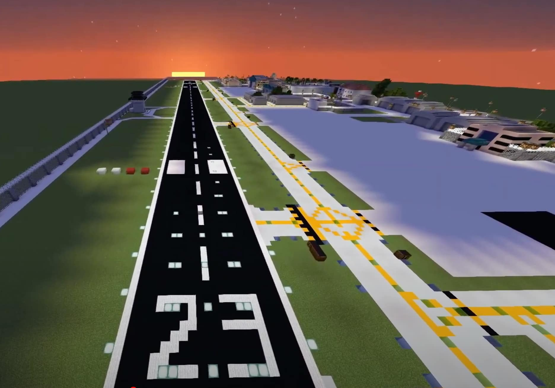 The BASA team built a virtual replica of the Boca Raton Airport in the video game Minecraft.