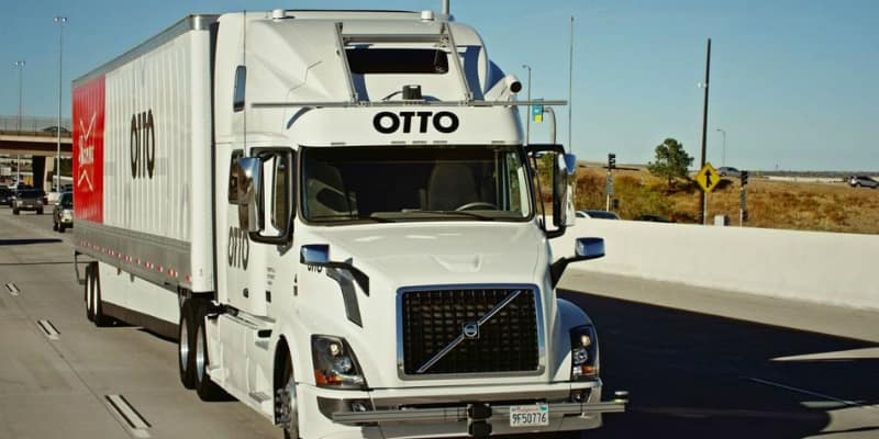 San Francisco start-up Otto's self-driving truck