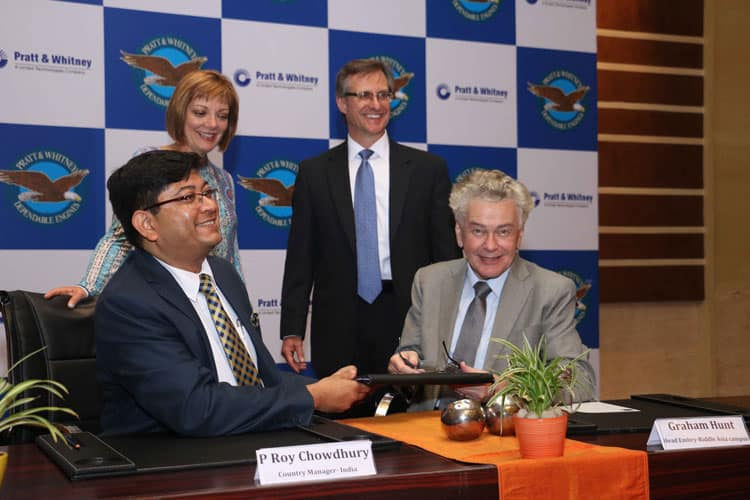 Pratt & Whitney present at the MoU signing