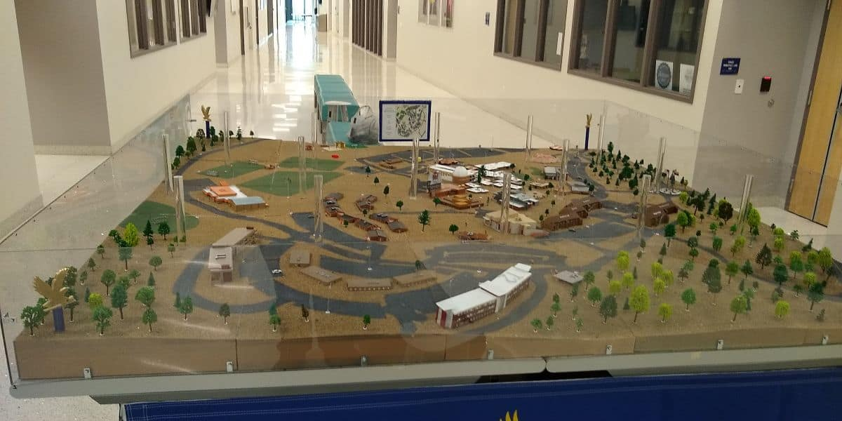 3D Printed Model of Embry-Riddle's Prescott Campus