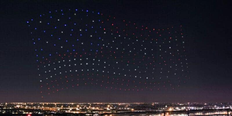 Drones above Super Bowl LI
