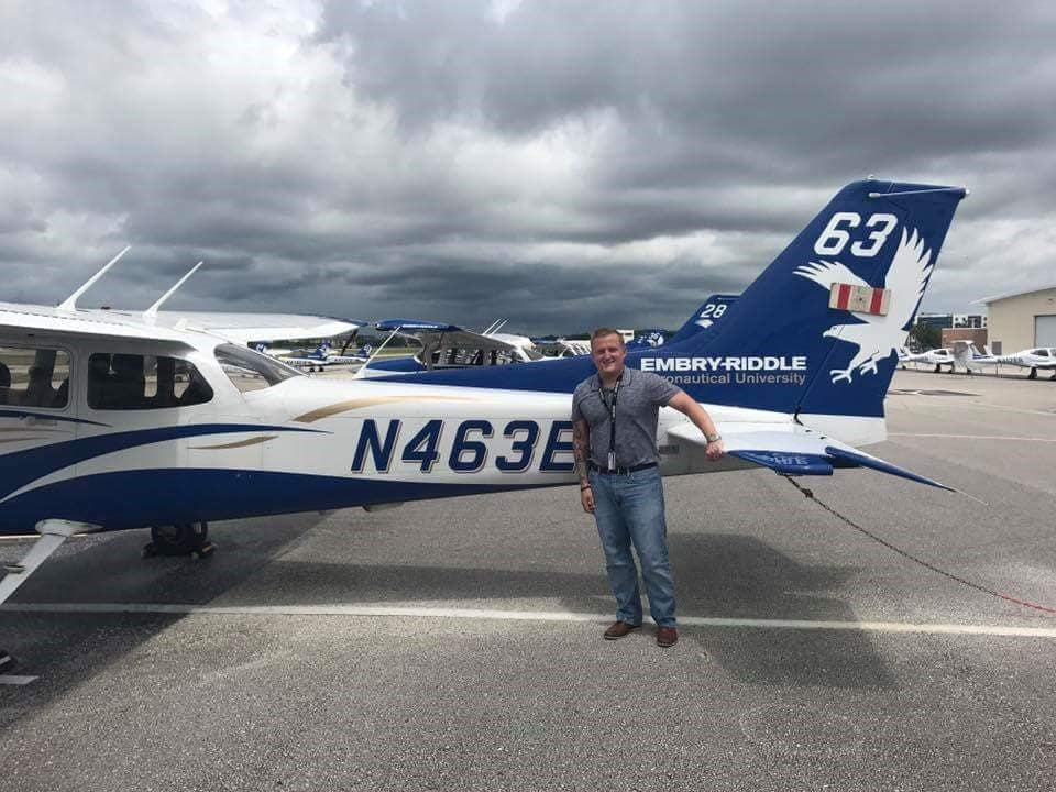 Zachary Capra with aircraft - photo provided by father